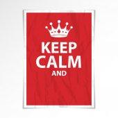 Keep calm poster — Stock Vector