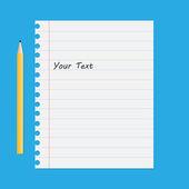 White Paper sheet — Stock Vector