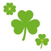 Green Shamrock Symbols — Stock Vector