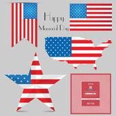 Happy Memorial Day — Stock Vector