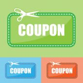 Coupons shopping comcept — Stock Vector
