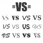 Black VS Letters on white — Stock Vector