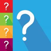 Question icons on color — Stock Vector