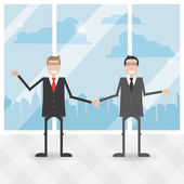 Two businessmen agree — Stock Vector