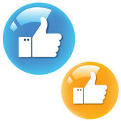 Two color Thumbs Up — Stock Vector