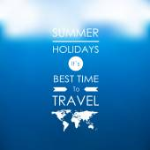 Summer holidays its best time to travel — Stock Vector