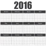 2016 calendar template — Stock Vector #75108525