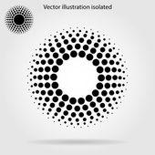 Halftone dots circle — Stock Vector
