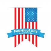 Fourth of July Independence Day — Stock Vector