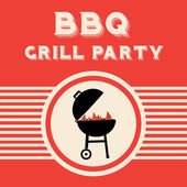 BBQ Grill Party — Stock Vector