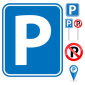 Parking Sign set — Stock Vector