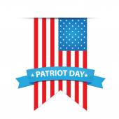 USA flag with Patriot Day banner — Stock Vector