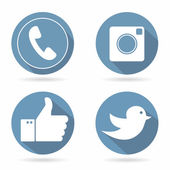 Icons for social networking — Stock Vector