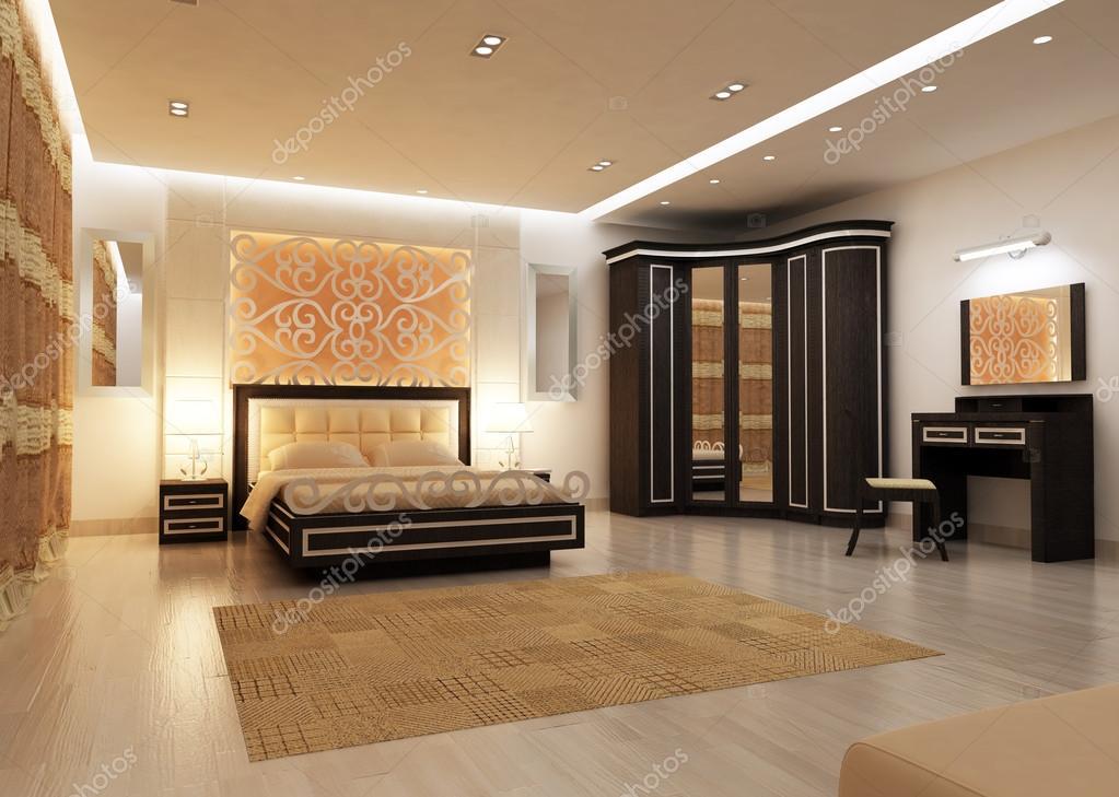 Dise o de interiores de gran dormitorio moderno en - Iluminacion dormitorio moderno ...
