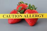 Strawberry Allergy — Stock Photo