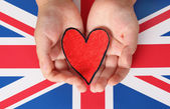 I love The United Kingdom — Stock Photo