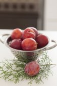 Plums in the kitchen — Stock Photo