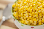 Cooked sweetcorn — Stock Photo