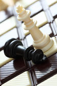 Defeat (chess on the chocolate chessboard) — Stock Photo