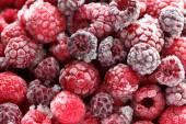 Frozen raspberries and blackberries — Stock Photo