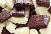 White and dark porous chocolate — Stock Photo