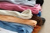 Cross-Stitch Threads — Stock Photo