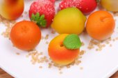Marzipan fruit shapes — Stock Photo