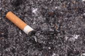 One cigarette butt — Stock Photo