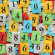 Numbers Heap — Stock Photo #63979205