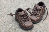Pair of toddler boots — Stock Photo