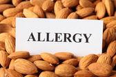 Almond Allergy — Stock Photo