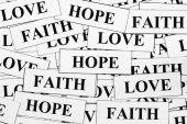 Hope, Faith and Love — Stockfoto