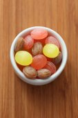 Sweets in a bowl — Stock Photo