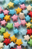 Colorful origami lucky stars — Stock Photo