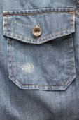 Denim shirt pocket — Stock Photo