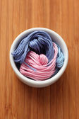 Cross-Stitch threads in a bowl — Stock Photo