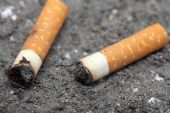 Two cigarette butts — Stock Photo