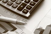 Financial statements (Business Graph or Stock Market Data) — Stock Photo