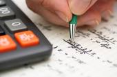 Solving Mathematical Problem — Stock Photo