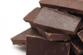 Large heap of chocolate — Stock Photo