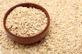 Oats in bowl — Stock Photo