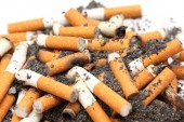 Cigarette butts — Stock Photo