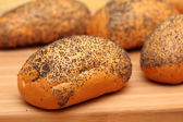 Rolls with poppy seeds — Stock Photo