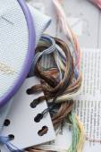 Embroidery (cross stitch) — Stock Photo