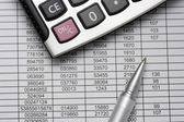 Calculating the budget — Stock Photo