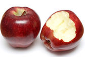 Two red apples — Stock Photo