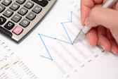 Finanční výkazy — Stock fotografie