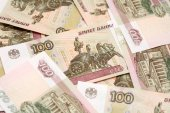 One hundred rubles background — Stock Photo