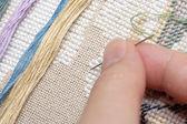 Cross-Stitch (Embroidery) — Stock Photo