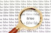 True y false — Foto de Stock
